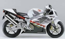 Honda VTR 1000 2002 SC45 white decals kit