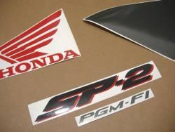 Honda vtr 2002 white complete sticker kit