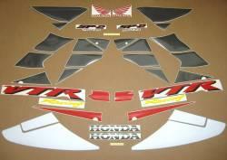 Honda VTR 1000 2002 white stickers kit