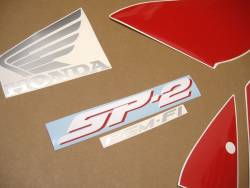 Honda VTR  1000 2005 black stickers kit