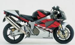 Honda vtr 1000 2005 black full decals kit