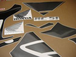 Honda 1000R 2005 RC51 black full decals kit