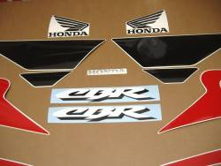 Honda 600 F4 2001 red full decals kit