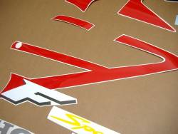 Honda CBR 600 F4 2001 red stickers kit