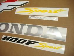 Honda CBR 600 F4 2001 red decals kit