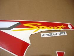 Honda CBR 600F F4 2001 red adhesives set