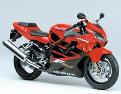 Honda CBR 600 F4 2001 red labels graphics