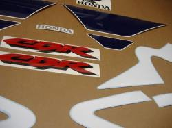 Honda 600 F4 2002 white stickers set