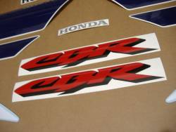 Honda CBR 600 F4 2002 white labels graphics