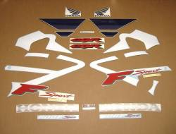 Honda CBR 600 F4 2002 white stickers kit