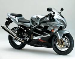 Honda CBR 600 F4 2001 silver decals set