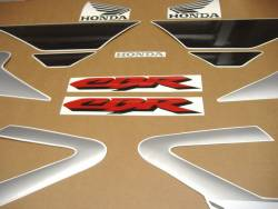 Honda CBR 600 F4 2001 silver stickers kit