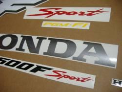 Honda CBR 600F F4 2001 silver decals