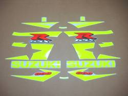Suzuki GSXR 600 K5 neon custom stickers