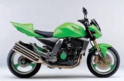 Kawasaki Z1000 2003 green adhesives set