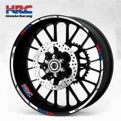 Honda HRC Racing wheel stripes set decals sickers
