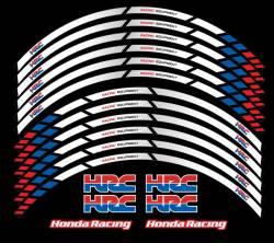 Honda HRC Racing wheel stripes kit decals sickers