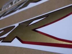 Kawasaki ZX12R 2001 gold stickers set