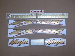 Kawasaki ZX12R 2000 Ninja gold decals kit