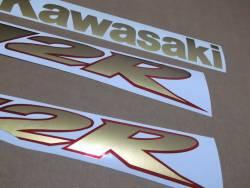 Kawasaki ZX 12R 2002 gold full decals kit
