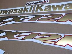 Kawasaki ZX-12R 2000 Ninja gold decals