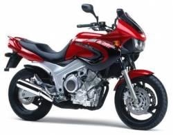 Yamaha TDM 850 1999 red stickers kit