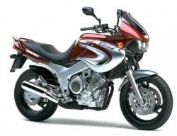 Yamaha TDM 850 2001 4TX burgundy decals