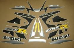 Suzuki GSXR 1000 K1 silver full decals kit