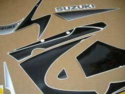 Suzuki GSXR 1000 2001 silver labels graphics