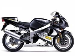 Suzuki GSXR 1000 K1 silver decal set