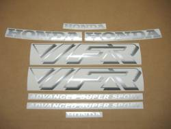 Honda VFR 750F 1992 black adhesives set