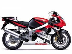 Suzuki GSX-R 1000 2001 red decals kit
