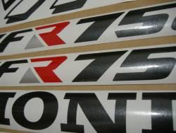 Honda VFR 750F 1990 RC36 white labels graphics