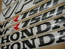 Honda VFR 750F 1990 white stickers kit