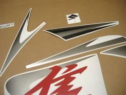Suzuki Hayabusa GSX1300R L1 red logo graphics