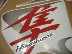 Suzuki Hayabusa GSX1300R 2008 red decals kit