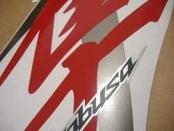Suzuki Hayabusa 2009 red complete sticker kit