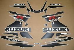 Suzuki GSXR 600 K2 black stickers