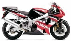 Suzuki GSXR 1000 K2 red decal set