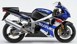 Suzuki 1000 2002 blue stickers kit