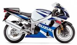 Suzuki 1000 2002 white complete sticker kit