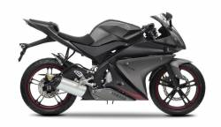 Yamaha R125 2012 black decals kit