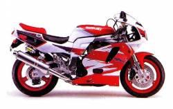 Suzuki GSX-R 750 1995 red adhesives set