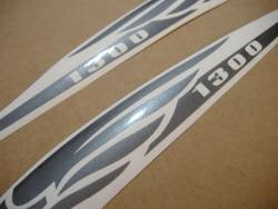 Honda vtx 1800 graphite grey gas tank stickers graphics set