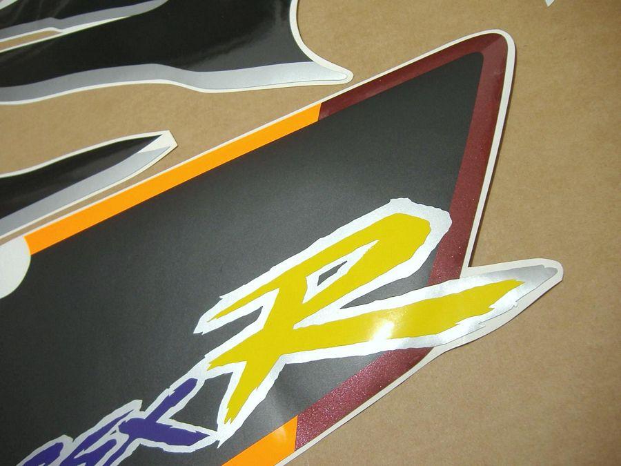 Suzuki GSX-R 750w 1995 decals set (kit) - black/burgundy version - Moto-Sticker.com