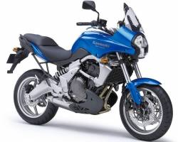 Kawasaki KLE650 2008 Versys blue logo graphics