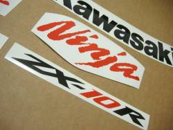 Kawasaki ZX-10R 2008 Ninja custom stickers