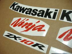 Kawasaki ZX10R 2008 custom adhesives set