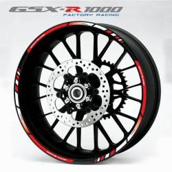 Suzuki gsxr 1000 l1 l2 wheel stripes sticker set