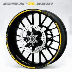 Suzuki gsxr 1000 yellow k5 k7 wheel rim stripes stickers